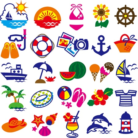 sandalias: arte clip de verano Vectores