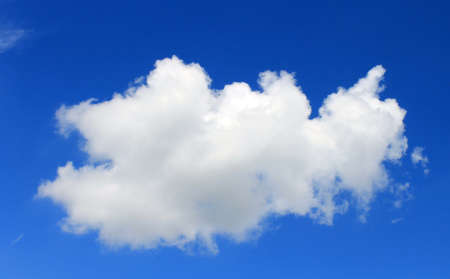 float cloud: A cloud float in the blue sky Stock Photo