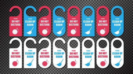 Hotel Door Hanger Tags, Please Do Not Disturb, Please make up room