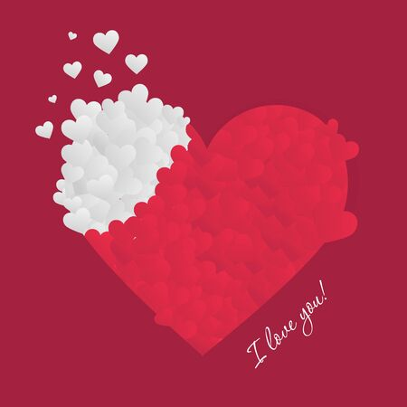 Valentines day. Card with love. Vector background eps 10 Standard-Bild - 138733709