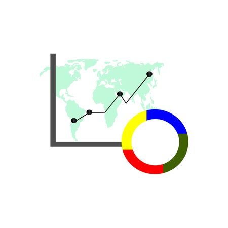 Business infographics set. Pie chart and infographic element collection