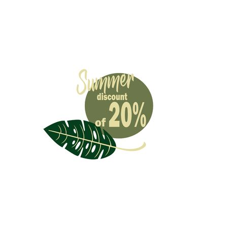discount 20 seasonal summer sale
