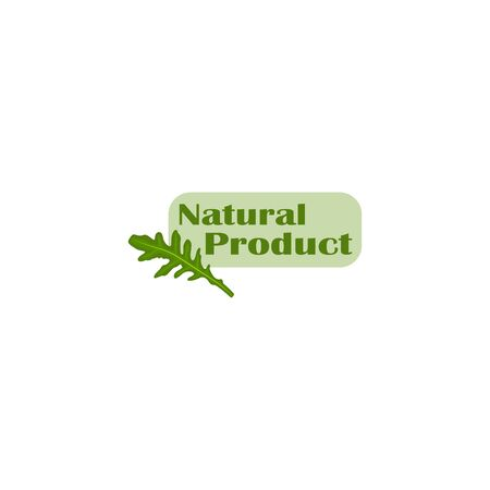 Stylish vector sticker natural product isolated.