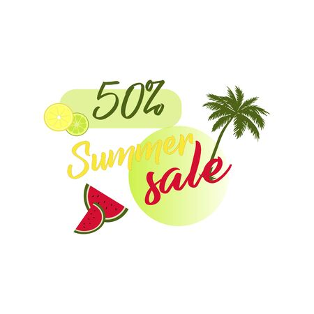 Shopping Day - Big Sales Up to 50% Vector Template