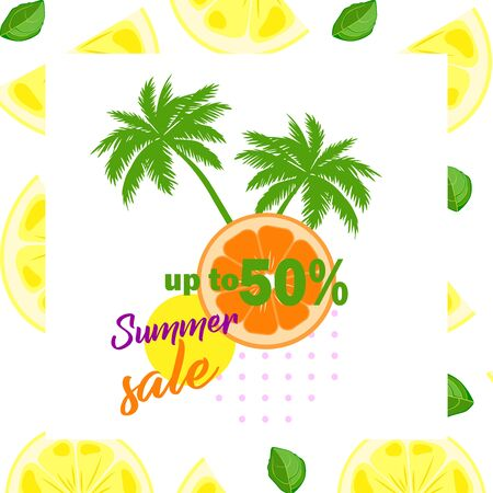 Shopping day - seasonal summer discounts and sales, stylish template vector. Vector illustration.