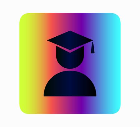 higher education icon neon style 向量圖像