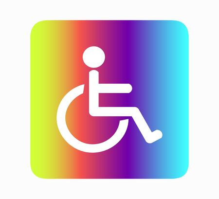 disabled toilet icon. handicap or wheelchair person symbol, vector illustration