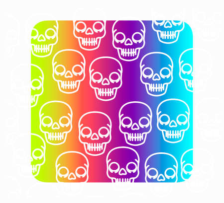 colorful skull background