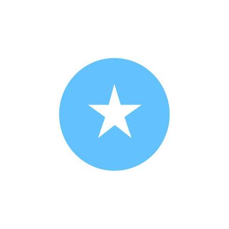 Somalia flag button on white