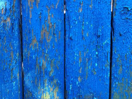 Vintage wood background with peeling blue color. Zdjęcie Seryjne