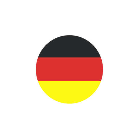 Vector - Germany Flag Glossy Button Ilustracja
