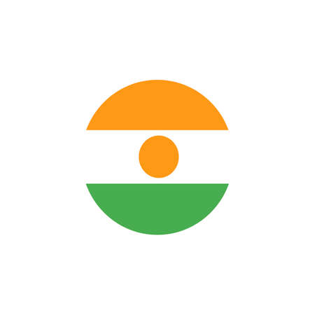 vector background of niger flag. Country symbol isolated flat design