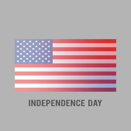 American Flag Flowing. Country symbol isolated flat design.