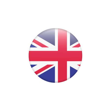 Vector - United Kingdom Flag Glossy Button Zdjęcie Seryjne