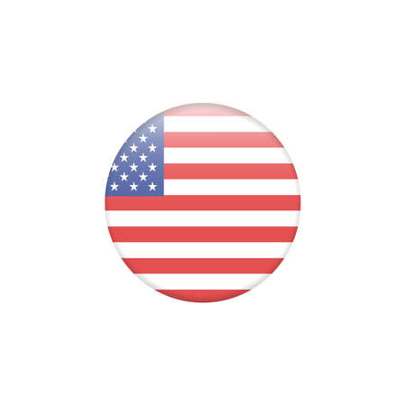 Vector - United States Flag Glossy Button Zdjęcie Seryjne