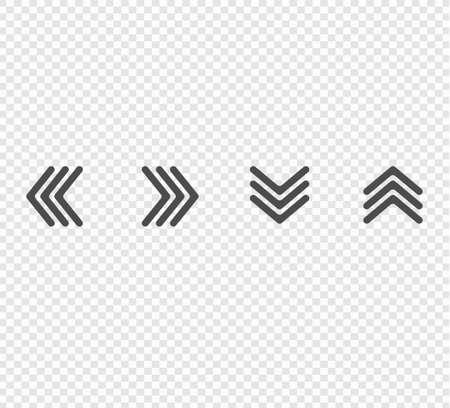 Arrows icons set. arrows guiding set on transparent background Ilustracja