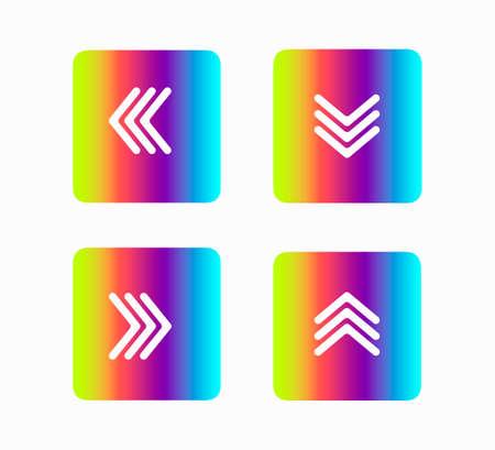 set of icons pointer arrows vector illustration isolated on white background Ilustracja