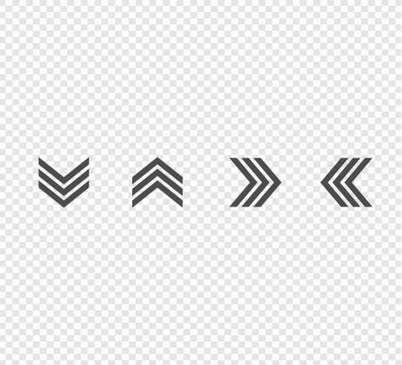 vector set of directional arrows. Up, down, left and right arrows Ilustracja