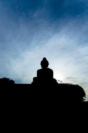 big buddha: Big Buddha Silhouette, Phuket , Thailand Stock Photo