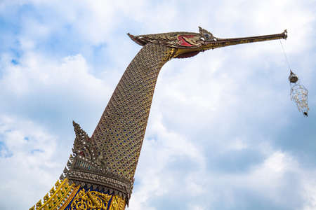 thai craft: Royal Barges Suphannahong, reproduced at Wat Chalor, Thai Craft - Art, Culture and Heritage of Thailand