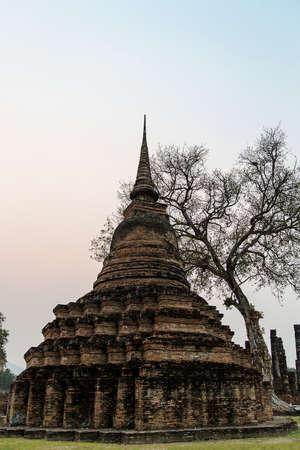 sukhothai: Ancient Pagoda. Sukhothai Historical Park,  Sukhothai, Thailand