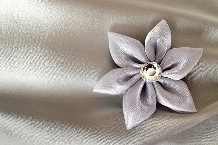 kanzashi: Wedding accessories: Handmade fabric flower