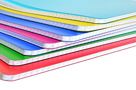 다시 학교로 : 흰색 배경에 고립 된 노트북 스톡 콘텐츠