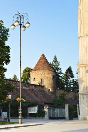 fortification: Kaptol fortification tower, Zagreb, Croatia Stock Photo