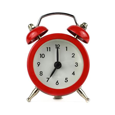 seven o'clock: Alarm clock showing seven oclock