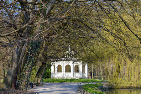 echo: Echo pavilion in Maksimir park at spring time, Zagreb, Croatia
