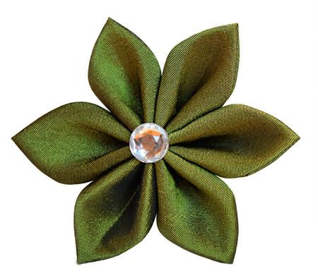 kanzashi: Handmade fabric flower