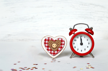 12 month old: New Year countdown clock and wooden heart