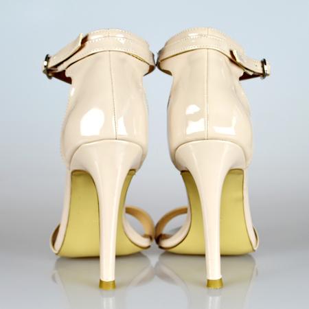 of beige: Beige high heels