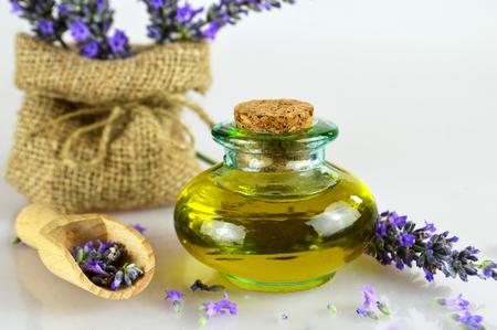 Lavender oil in the bottle