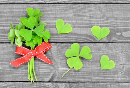 false shamrock: Bouquet of plant with heart shaped leaves