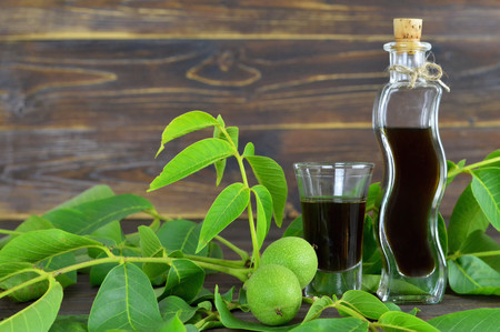 Walnut liqueur