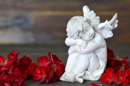 Guardian angel sleeping Foto de archivo