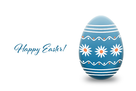 Easter card with Easter egg isolated on white background Stock Photo
