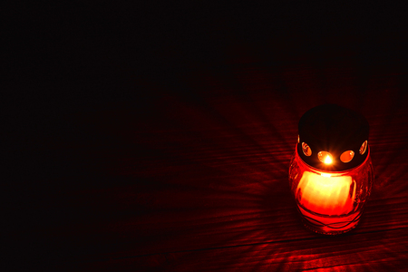 Red votive candle