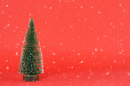 Christmas background with Christmas tree and copy space