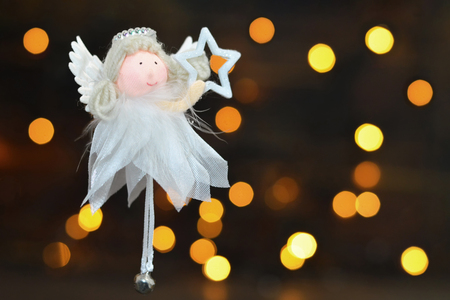 Christmas angel and star. Christmas card