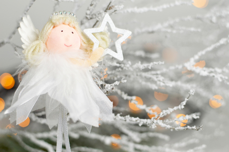 Close up of Christmas angel