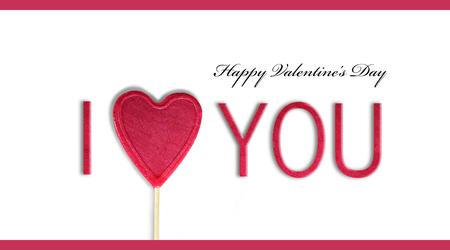 I love you. Valentines day concept Archivio Fotografico