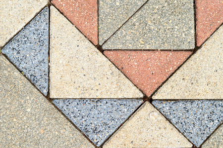 Paver bricks background. Colorful paving stones