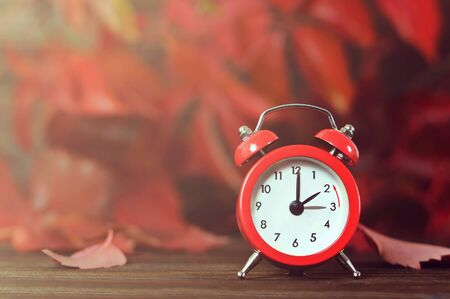 Fall back. Winter time change. Daylight saving time.
