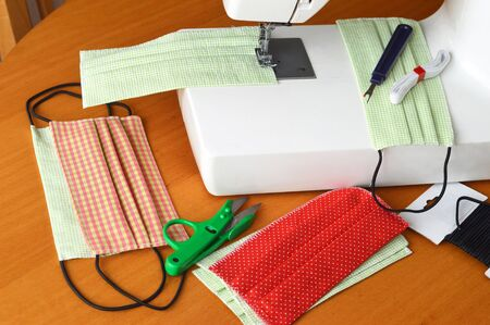 Sewing protective cotton medical mask