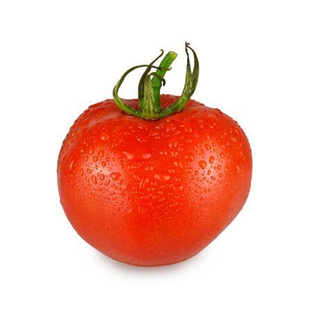 Tomate fraîche isolé sur fond blanc