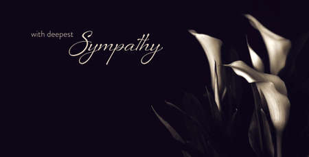 Sympathy card with calla lily flowers
