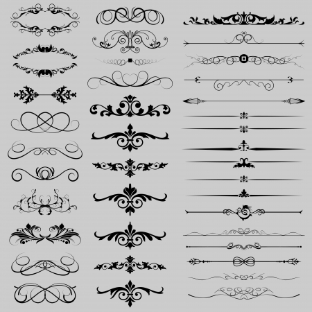 a collection of dividers and design elements