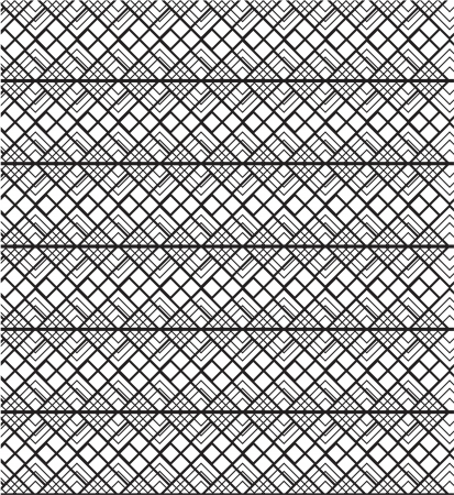 a black and white geometric seamless pattern Vector
